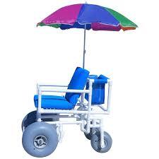 Sports Chair With Umbrella Aqua Creek Beach Access Chair