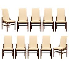 gorgeous set of ten 10 vintage henredon dining chairs in
