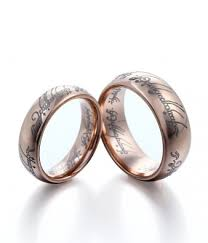 lord of the rings wedding band s gold plating the lord of the rings tungsten rings