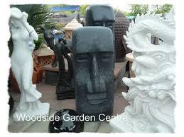 enigma black marble resin easter garden ornament woodside