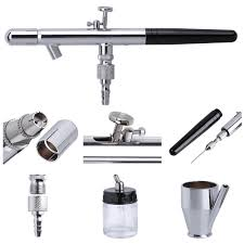 as186 airbrush kit compressor double action air brush nail art
