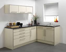 CREAM HIGH GLOSS VINYL KITCHEN CABINET DOORS EBay - Cream kitchen cabinet doors