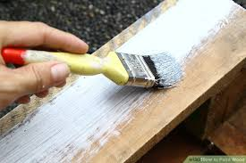 how to paint wood with pictures wikihow