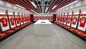 anfield u0027s new dressing rooms unveiled at merseyside derby