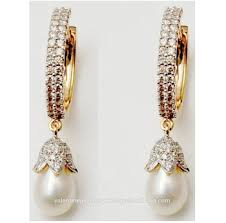 design of earrings pretty pearl designer diamond earrings buy indian design style