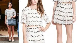 matching set demi lovato matching set match set lace top shorts