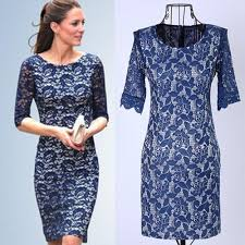 blue lace dress royal duchess style feminine royal blue lace sheath dress