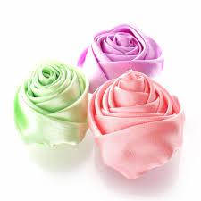 satin roses 2 satin knot diy hair flower