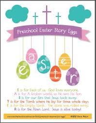 free easter speeches free christian easter story egg 8x10 printable poem for preschool