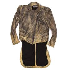 jacket moto balmain leather jacket moto style with tail at 1stdibs