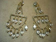 Huge Chandelier Earrings Vintage Rhinestone Earrings Ebay