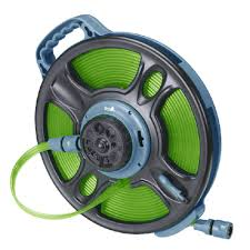 water hose reel wall mount ray padula 5 8 in dia x 50 ft 2 in 1 flat garden hose rp fshr