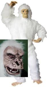 abominable snowman costume white gorilla suit costume abominable snowman snowbeast mask