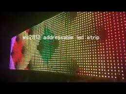 programmable led light strips ws2813 addressable programmable led strip panel youtube