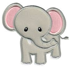 grey elephant iron on patch elephant applique patchmommy
