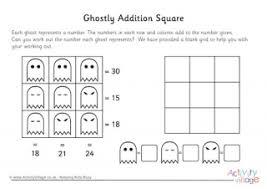 halloween maths worksheets