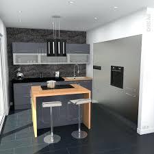 cuisine sur un pan de mur meuble cuisine equipee cuisine bleu gris design avec pan de mur de