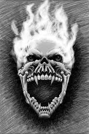 flaming skull by etlgfx on deviantart