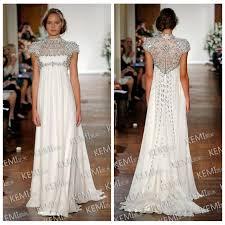 2017 zuhair murad a line wedding dress chiffon sweep beaded top