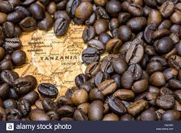Map Of Tanzania Vintage Map Of Tanzania Covered By A Background Of Roasted Coffee