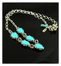 turquoise silver necklace jewelry images Blue turquoise link necklace jpg