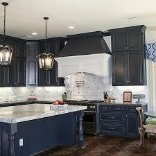 Blue Kitchen Cabinets Blue Kitchen Cabinets Trimmed W Dark Grey - Navy kitchen cabinets