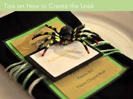 Diy Wedding Menu Cards A Spider Menu Card Project Simple And Creepy Unique Wedding