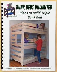 Free Plans For Building Loft Beds by Triple Bunk Bed Diy Woodworking Plan To Build Your Own That Sleeps