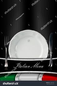 Flags Restaurant Menu Italian Restaurant Menu Design Background Italian Stock