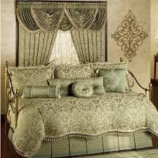 bedroom grey pattern linen cotton bedding curtain set for bedroom