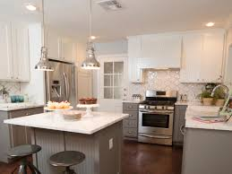 White And Gray Kitchen Cabinets 9 Kitchen Color Ideas That Aren U0027t White Hgtv U0027s Decorating