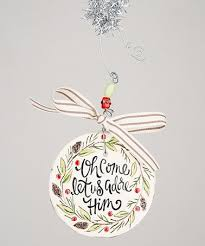 another great find on zulily let us adore him ceramic ornament