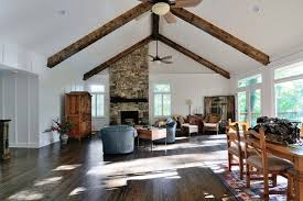 Living Room Ceiling Beams Plank Beam Ceiling Traditional Living Room Atlanta By