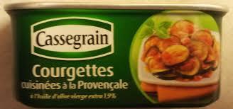 courgettes cuisin s courgettes cuisinées à la provençale cassegrain 185 g
