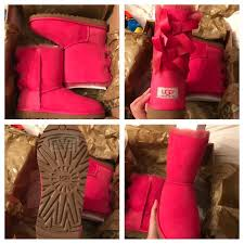 ugg bailey bow sale size 7 25 ugg shoes size 5 7 bailey bow pink ugg boots