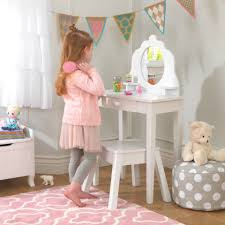 Guidecraft Classic White Vanity And Stool Toddler Vanity Set Uk Home Vanity Decoration