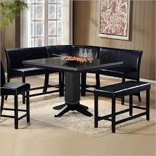 black dining room table set wow 30 space saving corner breakfast nook furniture sets 2018