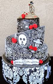 Halloween Round Cake Ideas by Dia De Los Muertos Or Day Of The Dead Black And White Mad Hatter