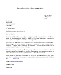 hr sle cover letter sle application cover letter
