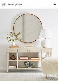 narrow entryway console table massive circle mirror for entryway statement entry