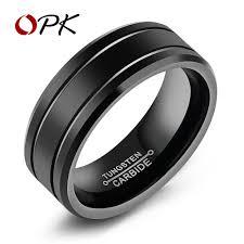 cool rings design images Opk tungsten cool men rings high polished vintage design 8mm width jpg