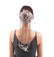 white hair extensions merrylight hair extensions bun gray white