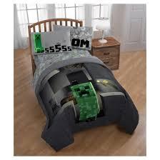 Minecraft Comforter Set Minecraft Creeper Gray Comforter Twin Full Target