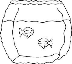 fish bowl coloring page free download coloring pages outline of a