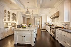 Glass Panel Kitchen Cabinets Kitchen White Marble Kitchen Island Also Classic White Recessed