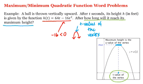 Quadratic Word Problems Worksheet With Answers Math 1a 1b Pre Calculus Maximum Minimum Quadratic Function Word