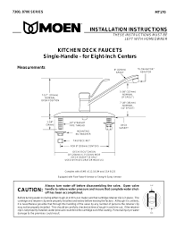 moen 8700 user manual 4 pages also for 7300