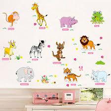 stickers animaux chambre b aventure chaude animaux stickers muraux pour enfants pépinière