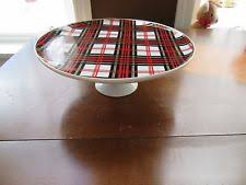 Red Cake Plate Pedestal Red Cake Stand Ebay