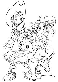 digimon coloring page coloring print 9025